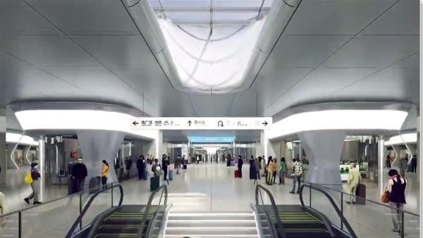 Stasiun kereta yang terletak di Kota Jiaxing itu diperkirakan baru akan rampung dikerjakan pada 1 Juli 2021. Stasiun ini akan menghubungkan Shanghai dan Hangzhou, sementara Kota Jiaxing sendiri merupakan kota utama bagi beberapa industri.Foto: MAD Architects