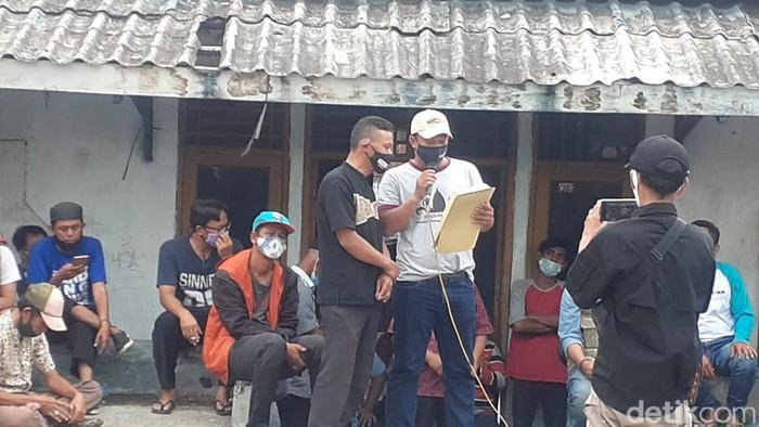 Deklarasi Perjanjian Damai warga Manggarai, janji tidak tawuran lagi. (Afzal Nur Iman/detikcom)