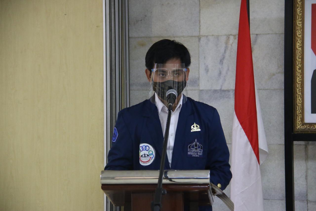 Kepresma Universitas Trisakti, Presma Trisakti Andi Rachmat Santoso. (Dok Andi Rachmat Santoso)