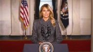 Pesan Perpisahan Melania Trump: Kekerasan Tak Akan Pernah Dibenarkan