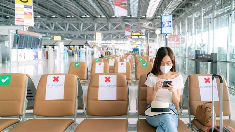 Penerapan protokol kesehatan di bandara