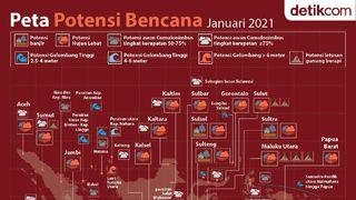 Peta Potensi Bencana Januari 2021