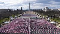 Jelang Pelantikan Joe Biden, National Mall Jadi Ladang Bendera