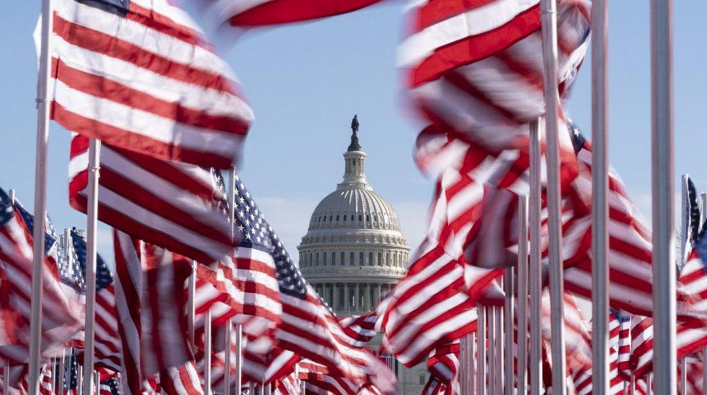 Ribuan Bendera AS Meriahkan Pelantikan Joe Biden