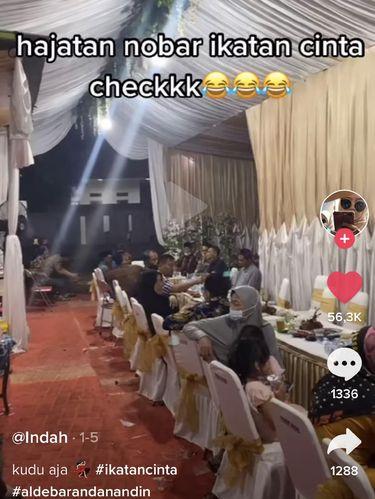 Nonton bareng sinetron Ikatan Cinta di acara nikahan