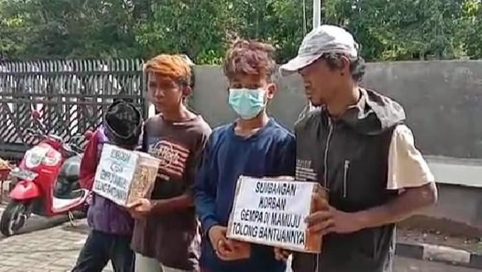 4 Remaja di Gowa yang diamankan karena melakukan penipuan penggalangan dana gempa Sulbar (dok. Istimewa).