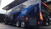 Potret Bus Tingkat Mewah Milik Perusahaan Rokok Sukun