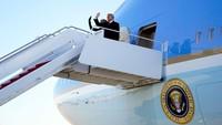 Terbang Terakhir Kali dengan Air Force One, Trump Tinggalkan Washington DC