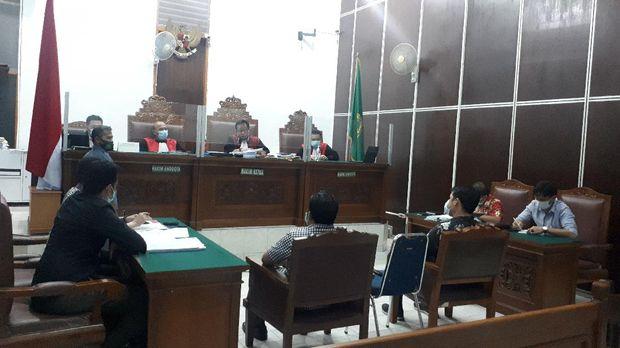 Sidang gugatan Fredrich Yunadi ke Setya Novanto di PN Jaksel, Rabu (20/1/2021).