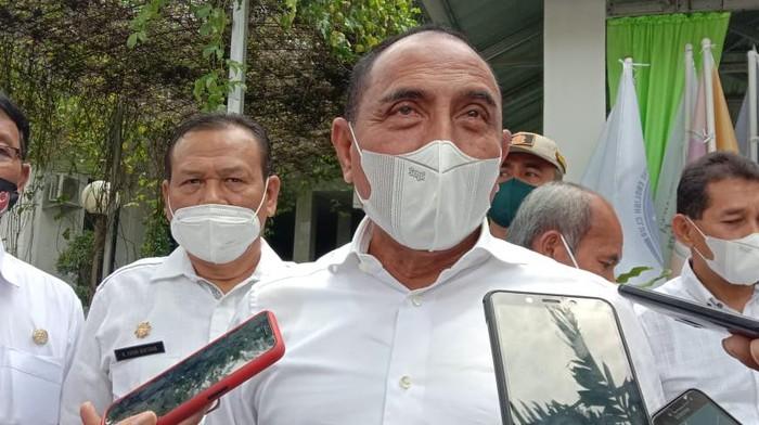 Gubsu Edy Rahmayadi di SMAN 1 Medan (Ahmad Arfah-detikcom)