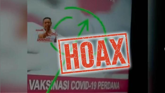 Hoax penyuntikan vaksin COVID-19 untuk Jokowi