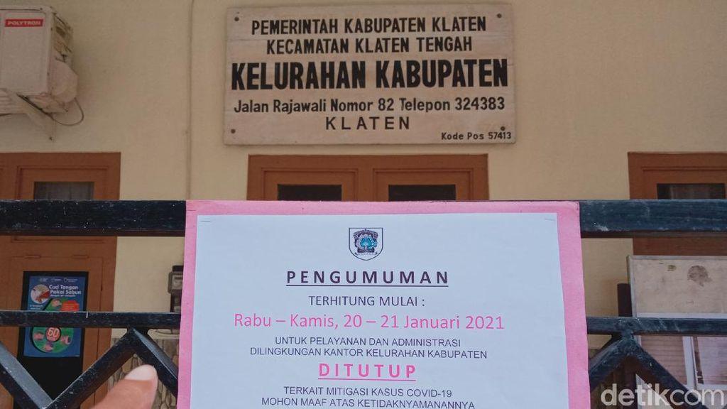 2 Kantor Kelurahan di Klaten Tutup Gegara Staf Kena Corona