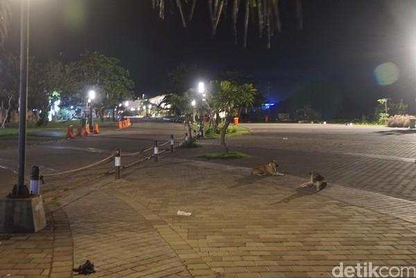 Mandalika, Lombok Tengah adalah satu dari sekian tempat di Indonesia yang dulu selalu dipenuhi turis asing. Kini, hanya ada anjing liar yang ke sana ke mari di kala malam tiba.