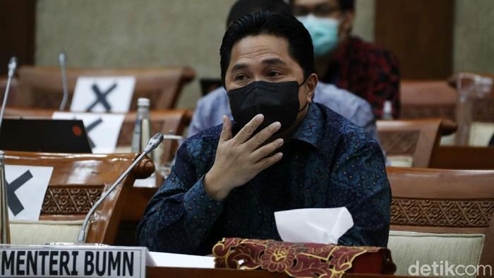 Menteri BUMN RI Erick Thohir dan Komisi VI DPR menggelar rapat kerja membahas pelaksanaan pembelian Vaksin COVID-19.