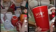 Pamer Koleksi Gelas Gratisan di Rumah, Video Netizen Ini Viral