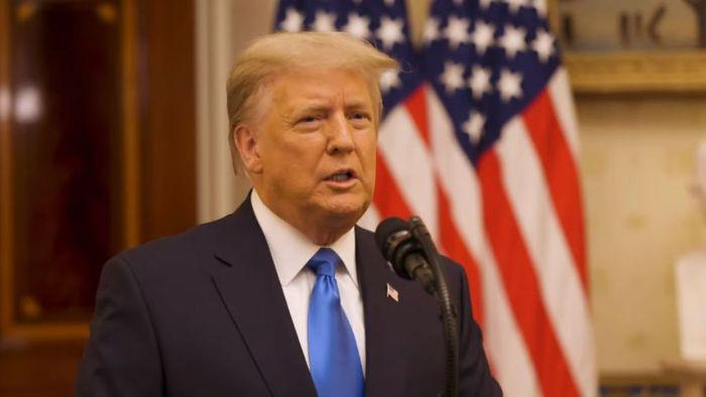 Pidato Terakhir sebagai Presiden AS, Trump Berterima Kasih ke Anak-anaknya