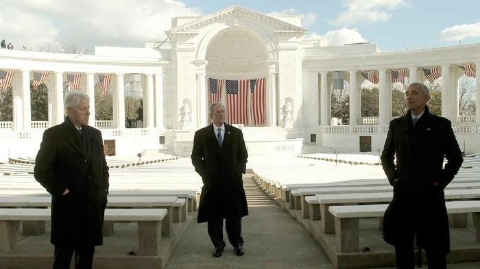 Former Presidents Bill Clinton, George W. Bush, and Barack Obama. Biden Inaugural Committee