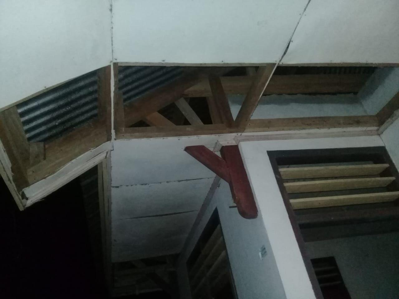 Dampak gempa bumi di Desa Bengkel Kecamatan Beo Kepulauan Talaut, Sulut. (Dok Badan Pengelola Perbatasan Kep Talaud)