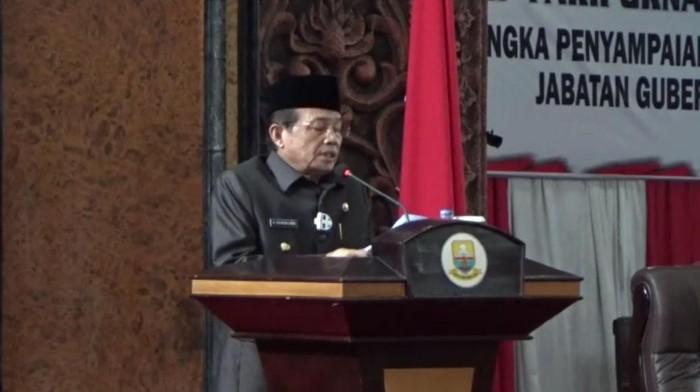 Fachrori saat pamit di Rapat Paripurna DPRD Jambi.