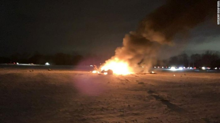 The crash happened Wednesday evening in Mendon, just south of Rochester, New York.