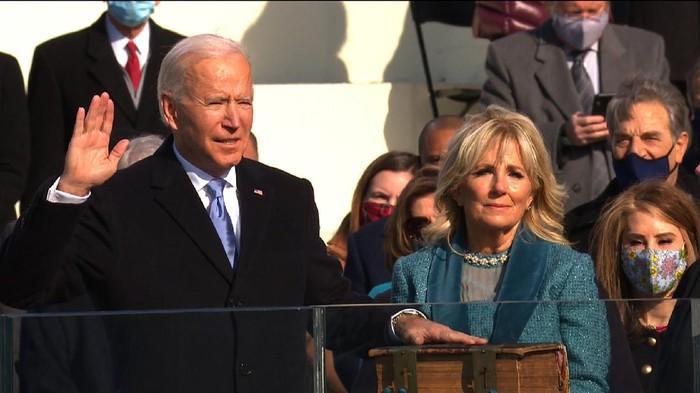 Joe Biden saat dilantik menjadi Presiden AS (CNN)
