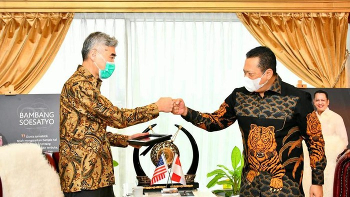 Ketua MPR dan Dubes AS untuk Indonesia