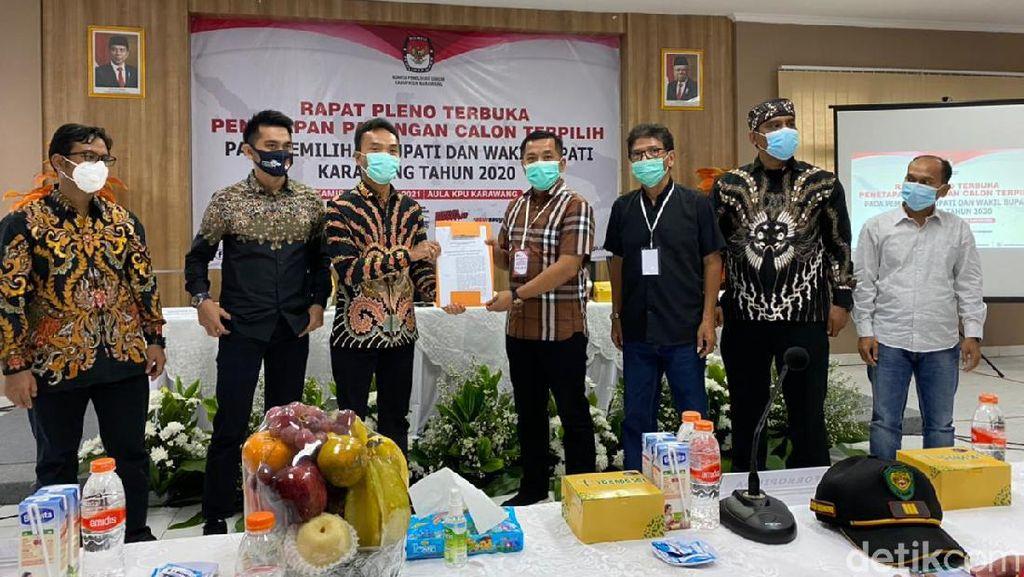 KPU Karawang Tetapkan Cellica-Aep Menang Pilkada Karawang 2020