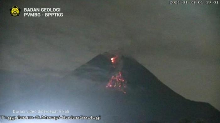 Luncuran awan panas Gunung Merapi, Kamis 21/1/2021 dinihari