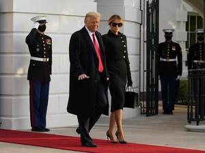Melania Trump Pamit Pakai Busana Eropa, Netizen Nyinyir