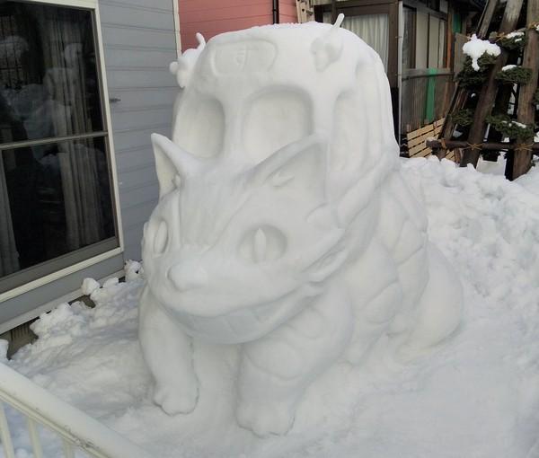 Kamu bisa nggak membuat patung salju seperti ini?