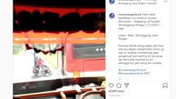 Ngeri, Ugal-ugalan Sambil Balapan, Bus Akap Terguling karena Hindari Pemotor