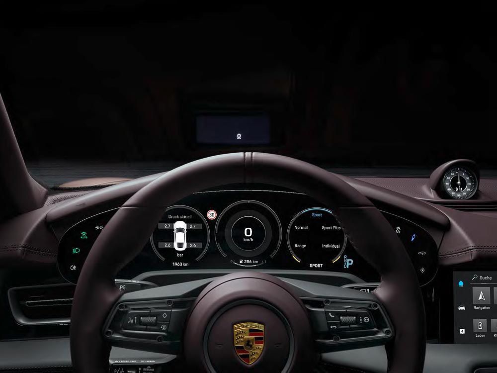 Porsche Taycan All Electric Sports Saloon