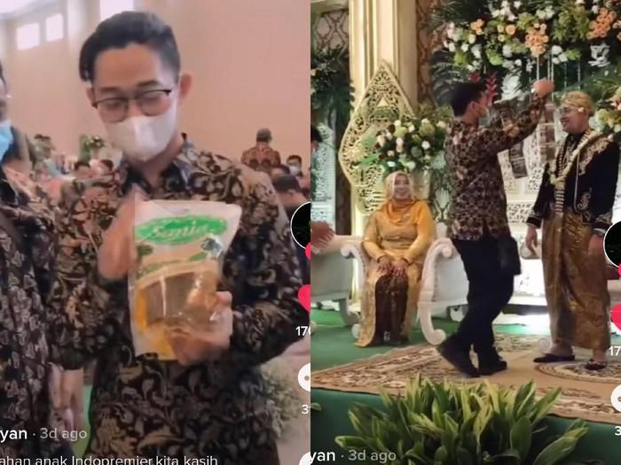 Nikahan bawa kado sembako untuk pengantin