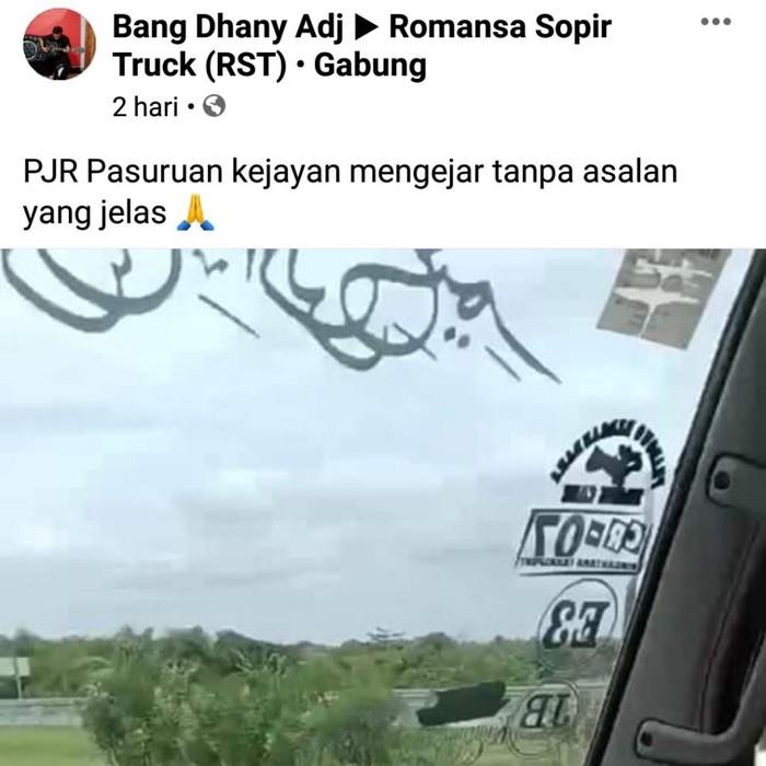viral pjr hentikan truk di tol