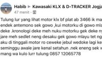 Viral, BeliKLX Belum Bayar Malah Bawa Kabur Motor, Ceweknya Ditinggalin!
