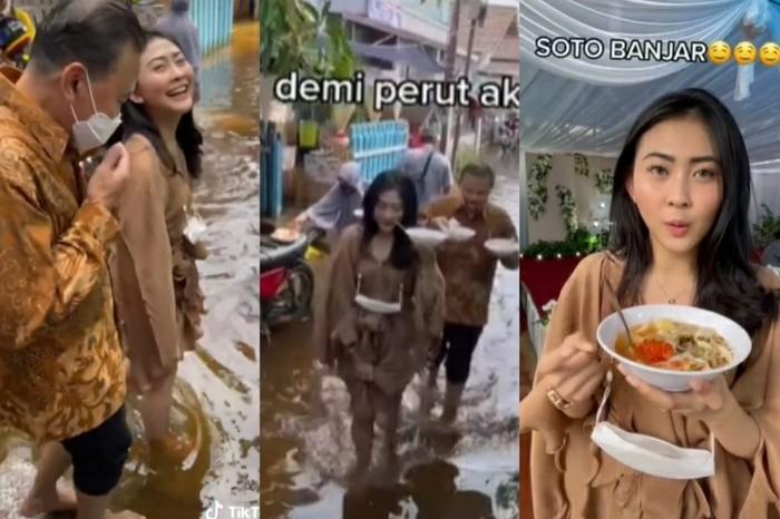Makan di Kondangan yang Kena Banjir
