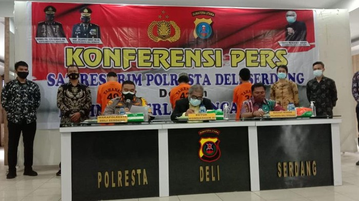 Konferensi pers di Polresta Deli Serdang (dok. Istimewa)