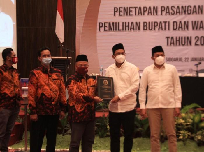 KPU Tetapkan Ahmad Muhdlor Ali-Subandi Bupati dan Wakil Bupati Sidoarjo Terpilih