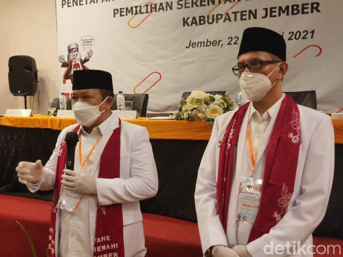 KPU Tetapkan Hendy-Gus Firjaun Cabup-Cawabup Jember Terpilih