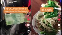 Netizen Buktikan Modal Rp 20 Ribu Bisa Kenyang Seharian di Jogja