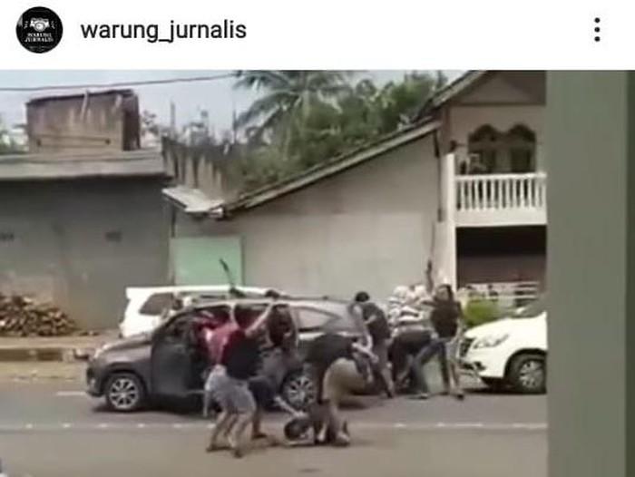 Penangkapan perampok yang gasak Rp 561 juta di Semarang, Jumat (22/1/2021).