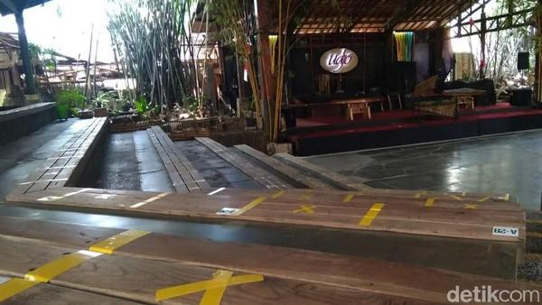 Sejak pandemi COVID-19 melanda, pihak pengelola sangat terseok-seok untuk menjalankan bisnis Saung Angklung Udjo. Siti Fatimah/detikcom.