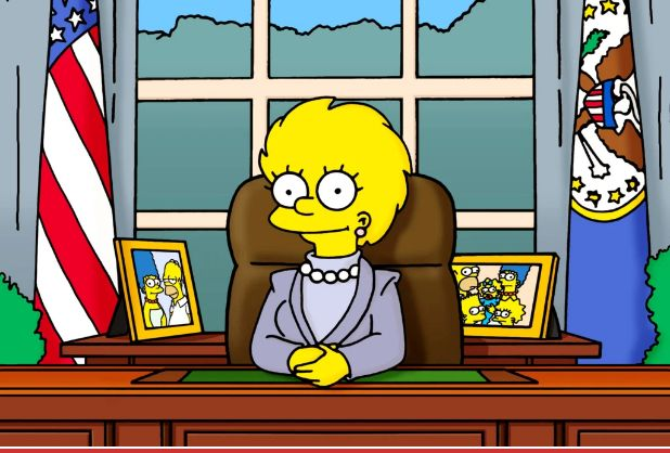 Ramalan Simpsons tentang Kamala Harris.