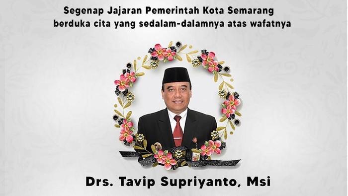 Kepala Bapenda Jateng dan eks Pjs Walkot Semarang Tavip Supriyanto meninggal dunia