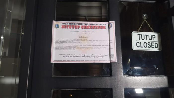 Odin Cafe di Senopati dan Boca Rica di Gatsu disegel karena langgar jam operasional