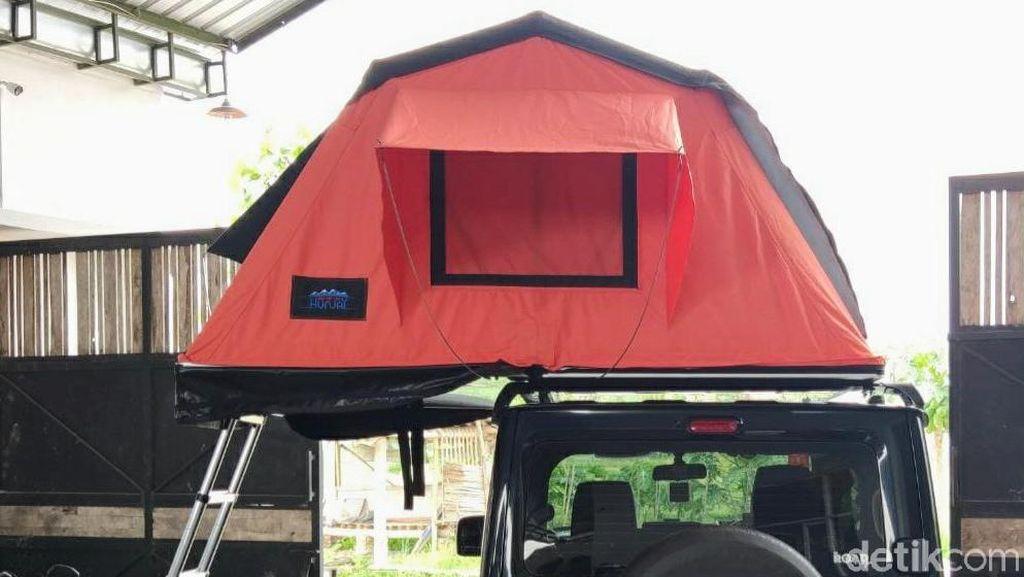 Warga Bondowoso Bikin Tenda Atap Mobil hingga Banjir Pesanan Saat Pandemi