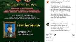 Kodam Diponegoro Berduka Prajuritnya Gugur Ditembak KKB di Papua