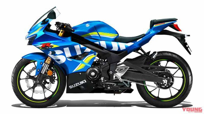 Rendering motor baru Suzuki oleh Young Machine