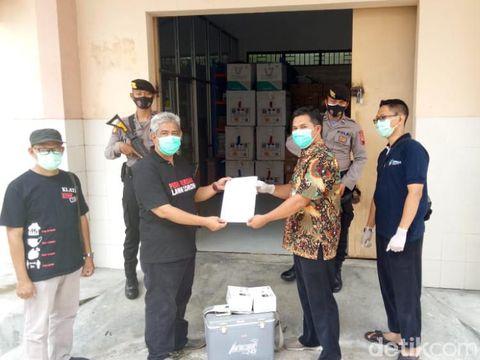 Vaksin Corona sudah tiba di Klaten, Minggu (24/1/2021).