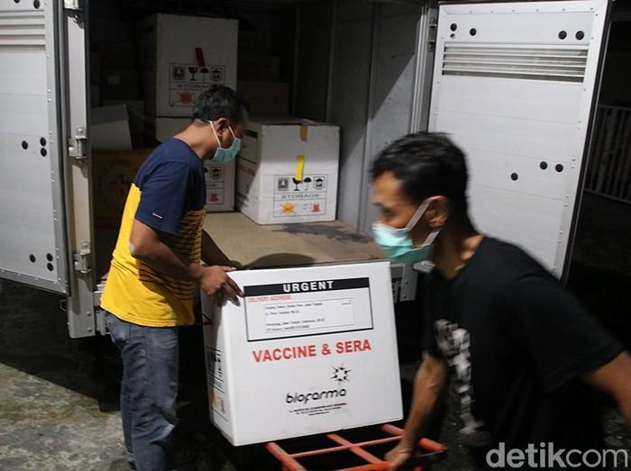 Vaksin Corona tiba di Blora, Jawa Tengah, Sabtu (23/1/2021).